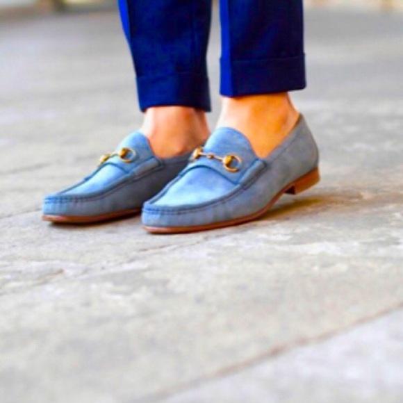 e21503446 Gucci Shoes | 1953 Anniversary Suede Horsebit Loafers | Poshmark